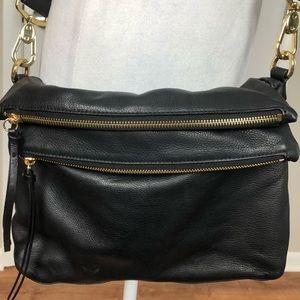 Margot | Versatile Black Leather Hobo Bag (H017)